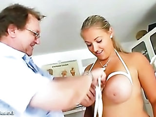 Busty Plump Donna Tits Bondage Gyno Exam
