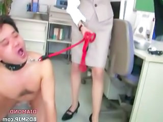 Humiliation Handjob With Office Mistress