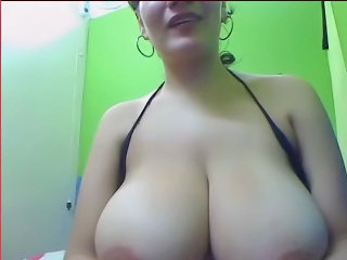 Busty Babe Shaking Her Tits