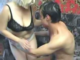 Russian Mature lady and boy...