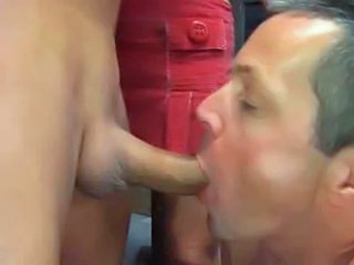 Hubby sucks cock for wife...