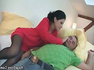 Cheating slut gets choked and...