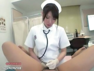 Naughty Nurse Administers Some Anal Probing On A Guy's Bottom
