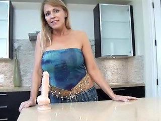 Dildo Kitchen Toy Big Cock Milf Big Tits Milf Dildo Milf