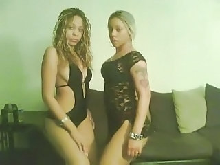 2 Bisexual Black Ghetto Hoodrats Strip Teasing You -...