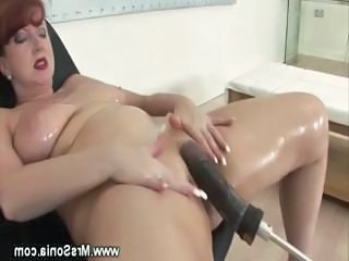 Solo Machine Oiled Orgasm Mature