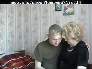 Mature Russian mom gets a you...