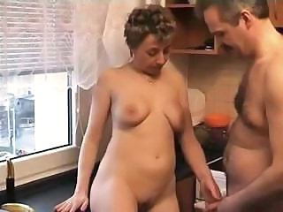 Older Mature Mom Homemade Mature Kitchen Mature
