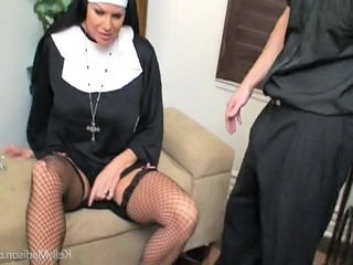 Sex deprived big titted nun K...