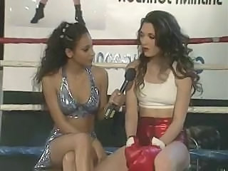 These two babes are into more than boxing and fuck in the ring