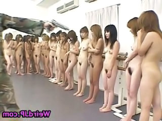 Forced Nudist Army  Asian Teen Forced
