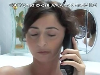 Wonderful French mature wife gets two cocks.