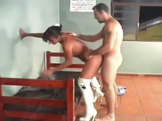 Tranny in boots - doggystyle