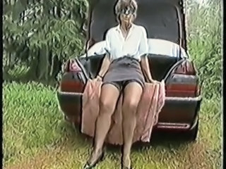 Outdoor Car Mature Mature Stockings Outdoor Outdoor Amateur