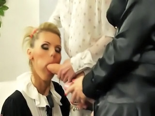 Glamorous lesbos play with strapons and they can't get enough