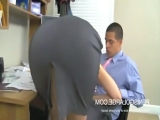 Big booty blonde office fuck free