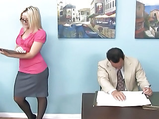 Office Secretary Glasses Foot Footjob Milf Ass