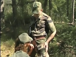 Army Blowjob Clothed Outdoor Uniform Outdoor