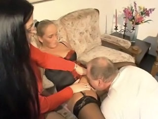 Wife Licking Lingerie FFM German Amateur German Milf