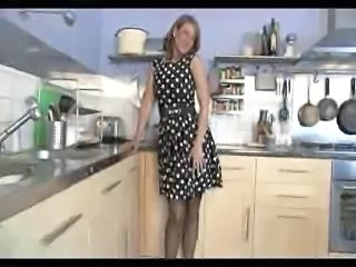 Solo Kitchen British British Milf Milf British Milf Stockings