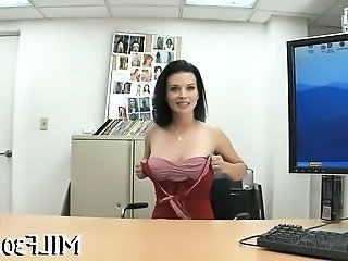 Amazing Casting Cute Milf Office Mother Office Milf