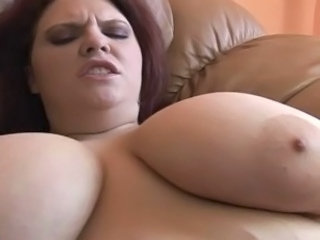 Video from: tnaflix | Fat redhead gets her tits and pussy fucked