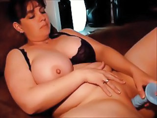 BBW Using A Blue Dildo (sk)