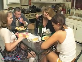 Family Daughter Drunk Daughter Drunk Teen Family