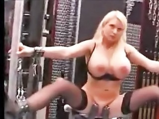 bigtitted blonde tortured