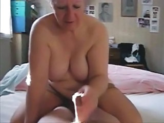 Older Granny Daddy Jerk