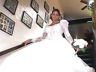 Bride Uniform Threesome Beautiful Blonde Cute Blonde Wedding