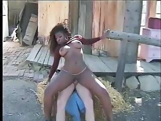Farm Ebony MILF Farm Outdoor