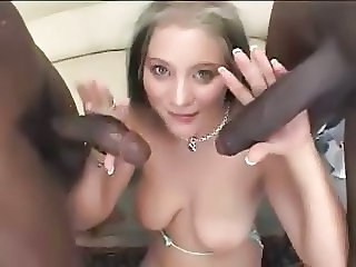 Two big dicks fuck blonde Bailey together