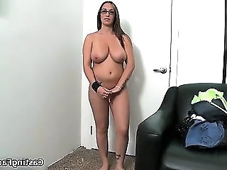 Sexy Busty Blonde Goes To A Casting And She