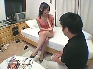 Yuka Osawa visiting the house of a fan