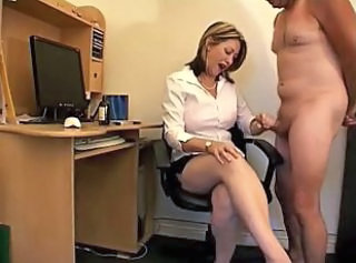 Office Secretary Cfnm Handjob Domination Milf Office