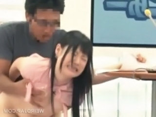 Asian TV presenter takes dick from behind in a show free