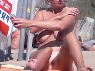 Outdoor Public  Beach Mature Beach Nudist Beach Tits