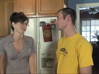 Glasses Kitchen MILF Milf Ass Son