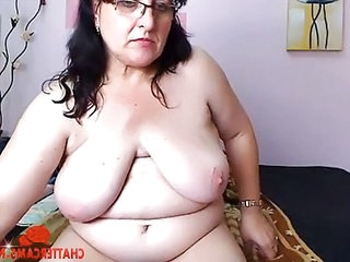 Chubby Grandma Beats Her Pussy Up
