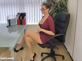Amazing Glasses Legs Boss Milf Ass Milf Office