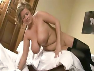 Blonde With Huge Tits Is Stripping And P...