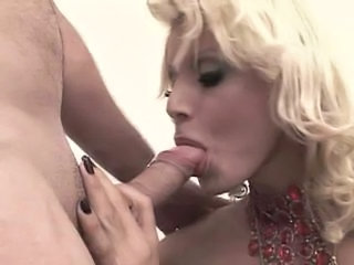 Blonde Shemale First Exsperience