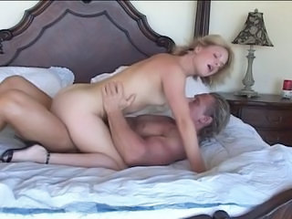 Riding Teen Blonde Teen Older Man Older Teen