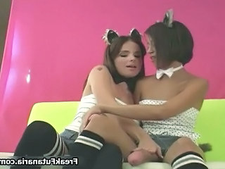 Two Cute Teen Girls Love Playing Part3