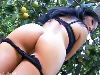 Lingerie  Outdoor Lingerie Milf Asian Milf Ass