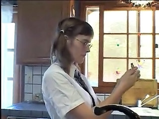 Pigtail Glasses Kitchen Fat Ass Glasses Teen Kitchen Teen