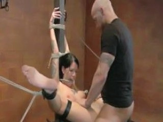Babe tiedup tortured in the fetish chamber