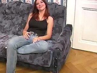 Busty MILF in Jeans Sucks Cock Like A Champ