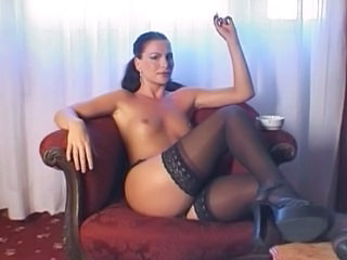Smoking  Small Tits Milf Stockings Stockings